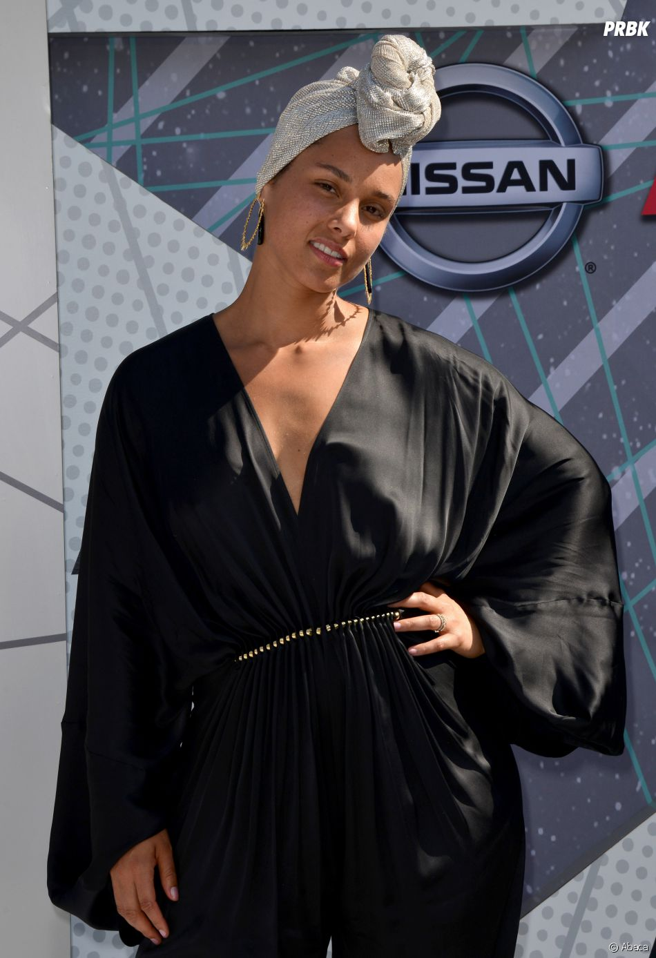 Alicia Keys sur le tapis rouge des BET Awards le 26 juin 2016 à Los Angeles