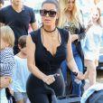 Kim Kardashian et Saint West à l'anniversaire de Mary Jo la grand-mère.