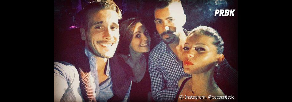 Sophia (Secret Story 10) et Julien ensemble avec des amis