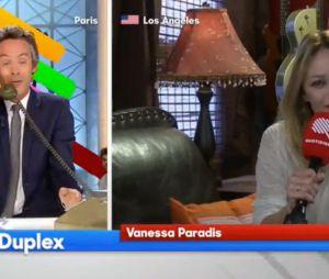 Vanessa Paradis, marraine de Quotidien, donne son numéro de téléphone en direct !