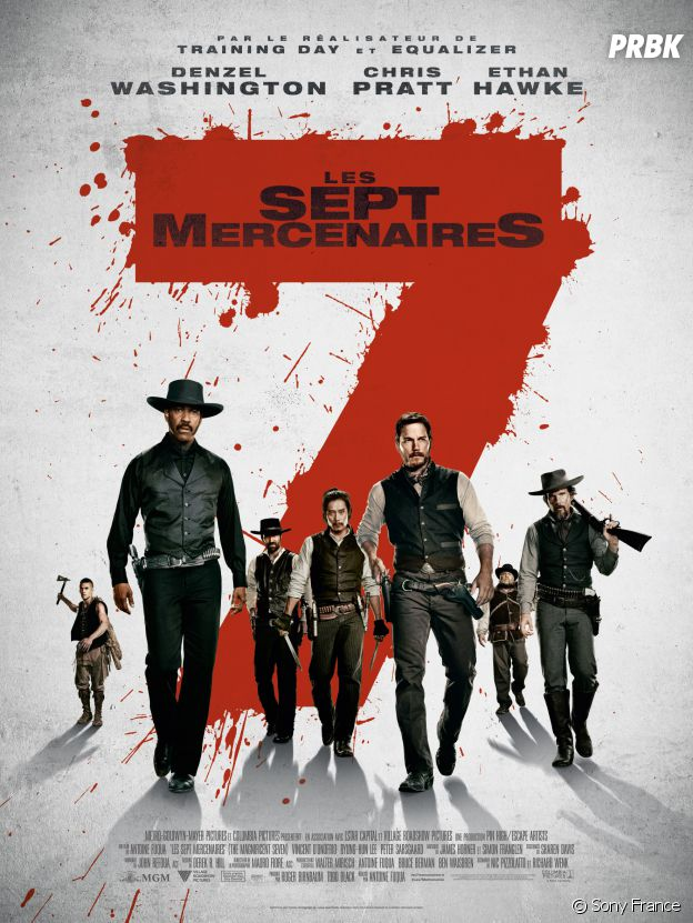 Les Sept Mercenaires : l'affiche du film