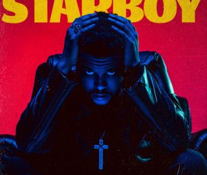 "The Weeknd sur la pochette de l'album ""Starboy""."