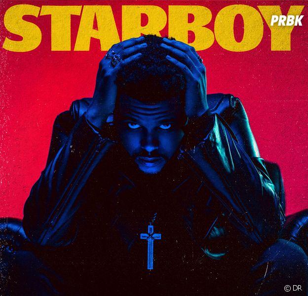 """The Weeknd sur la pochette de l'album """"Starboy""""."""