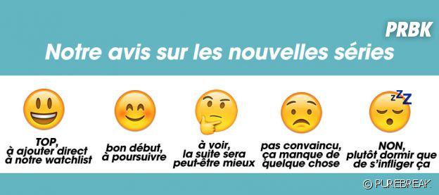 Les séries notées en emoji