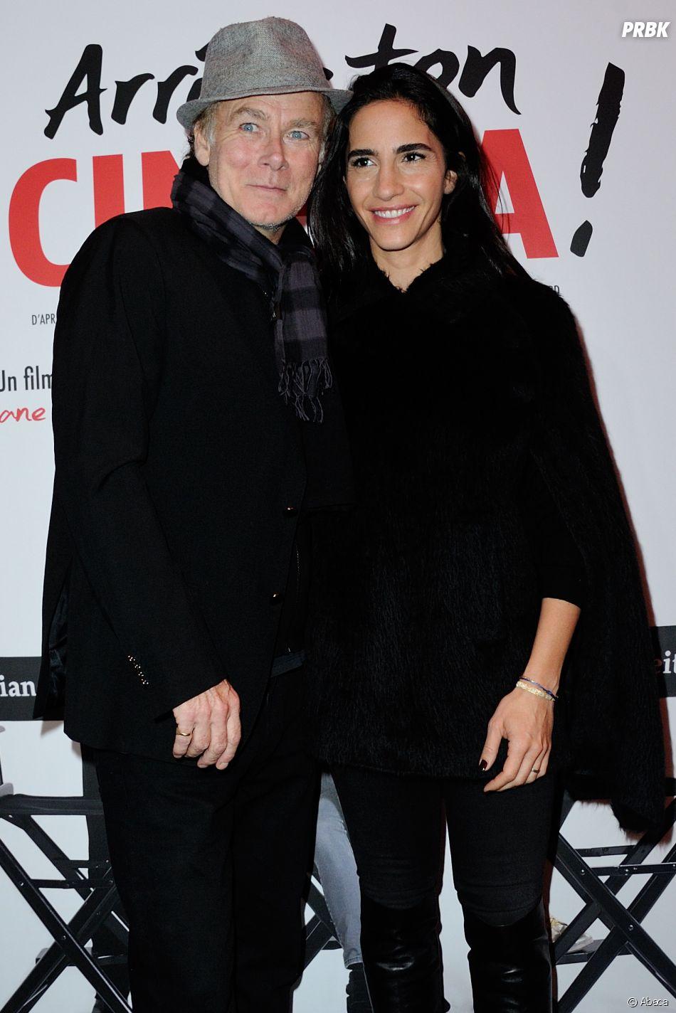 Franck Dubosc et sa femme Danièle à la première du film Arrête ton cinéma en janvier 2016