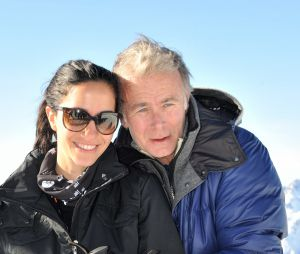 Franck Dubosc et Danièle en amoureux au ski