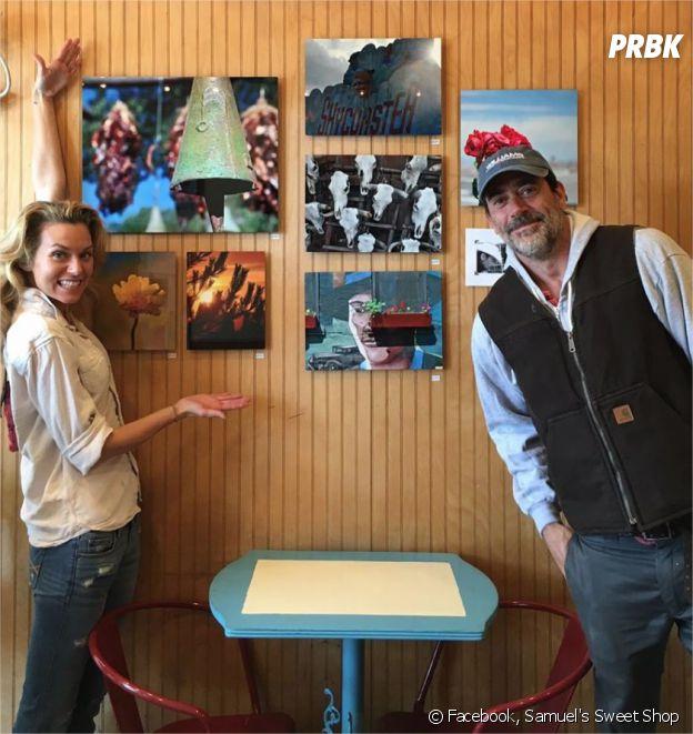 Jeffrey Dean Morgan et sa femme Hilarie Burton pose au Samuel's Sweet Shop