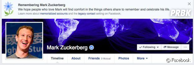 Facebook a annoncé la mort de deux mililons d'utilisateurs... dont Mark Zuckerberg.
