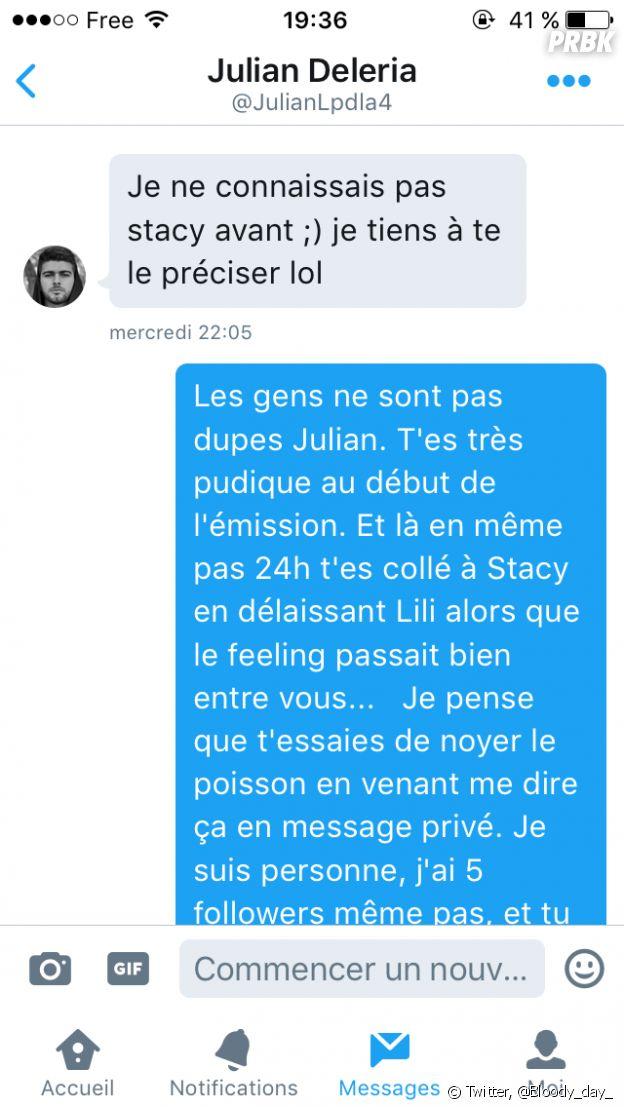 Julian (Les Princes de l'amour 4) réagit à la rumeur le concernant avec Stacy