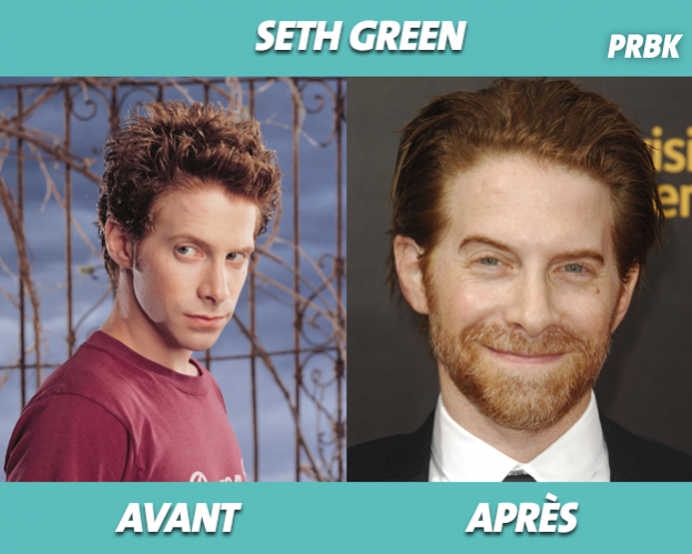 Seth Green dans Buffy contre les vampires et aujourd'hui