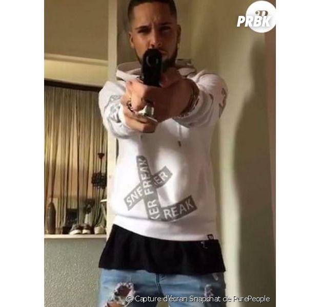 Eddy : l'ex candidat de La Villa des Coeurs Brisés 2 s'affiche armé sur Snapchat et provoque un bad buzz !