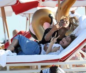 Jaden Smith et sa nouvelle petite amie, Odessa Adlon, à Miami