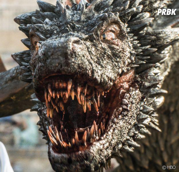 Daenerys et un de ses dragons dans Game Of Thrones.