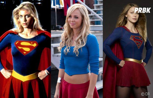 Supergirl saison 1 : Helen Slater, Laura Vandervoort et Melissa Benoist dans le rôle de Supergirl