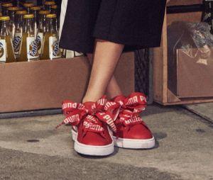 Cara Delevingne dévoile les nouvelles Puma Heart rouges très féminines !