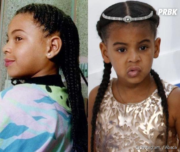Beyoncé jeune (à gauche) et sa fille Blue Ivy (à droite) : elles se ressemblent comme deux gouttes d'eau !