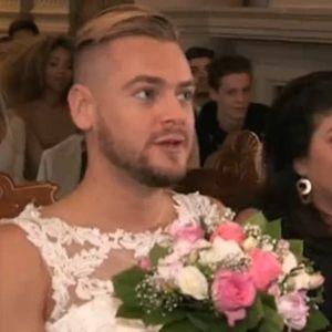 Jeremstar en robe de mariée à son mariage solo : il assume son choix critiqué et répond aux tacles