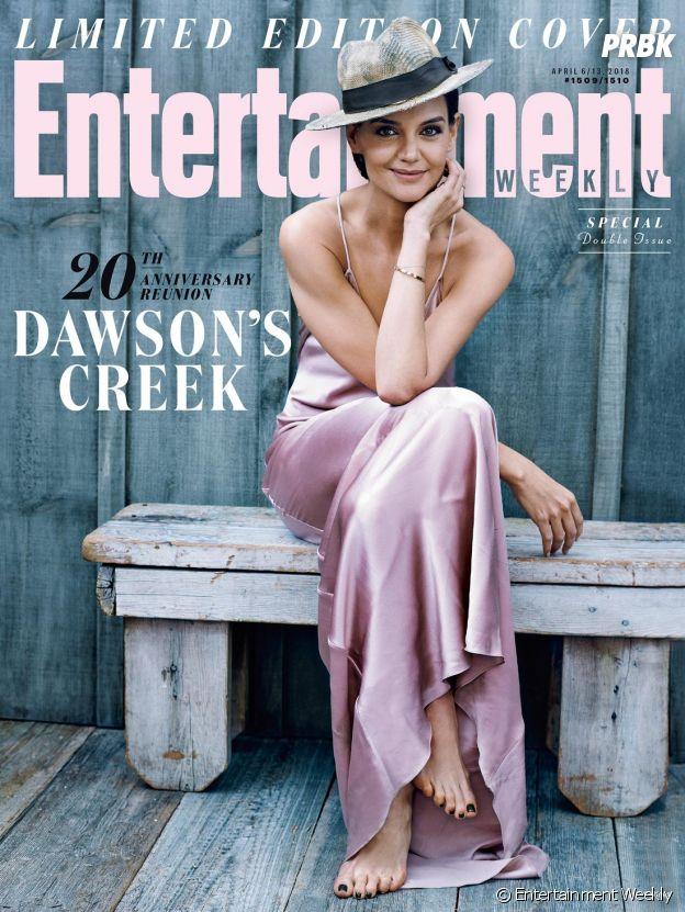 Katie Holmes pose pour les retrouvailles de Dawson pour fêter les 20 ans de la série