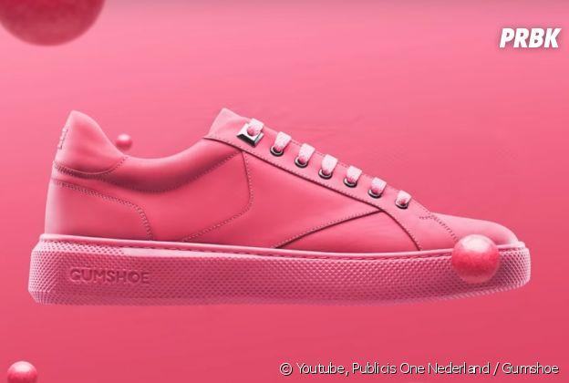 voici gumshoe des sneakers colo en chewing gum recycl. Black Bedroom Furniture Sets. Home Design Ideas