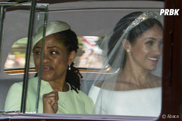 Mariage de Meghan Markle et du Prince Harry : une robe chic et sublime accompagnée d'un diadème scintillant pour la mariée.
