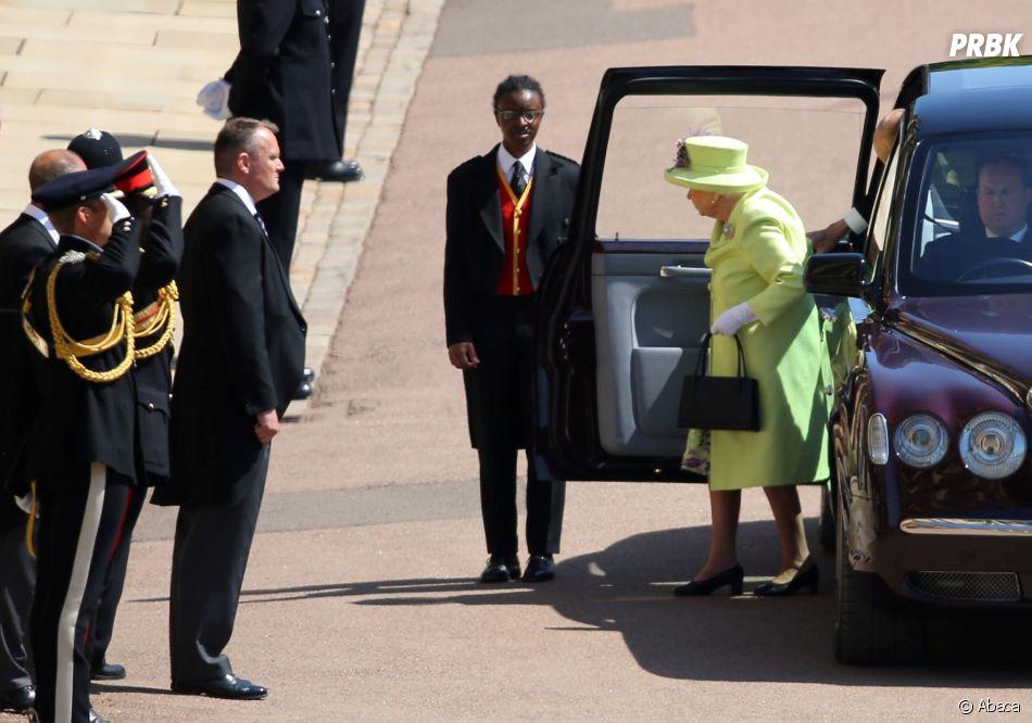 Mariage de Meghan Markle et du Prince Harry  l\u0027arrivée de la reine  Elizabeth II.