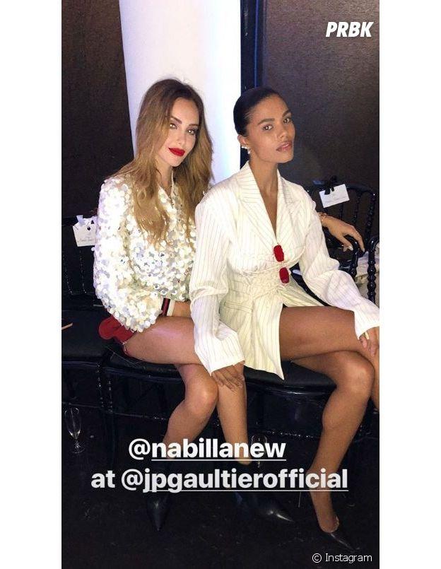 Nabilla Benattia et Thomas Vergara : après le défilé de Jean-Paul Gaultier, ils ont passé la soirée avec Tina Kunakey et Vincent Cassel.