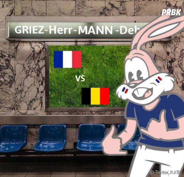 France-Belgique (Coupe du Monde 2018) : le métro bruxellois passe l'hymne des Bleus après un défi