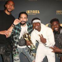 Paul Pogba, Adil Rami, Samuel Umtiti et Steven Nzonzi s'éclatent avec la coupe à Los Angeles