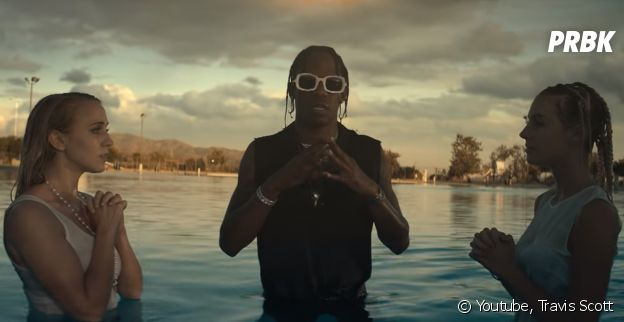 "Clip ""Stop Trying To Be God"" : Travis Scott transforme Kylie Jenner en sainte."