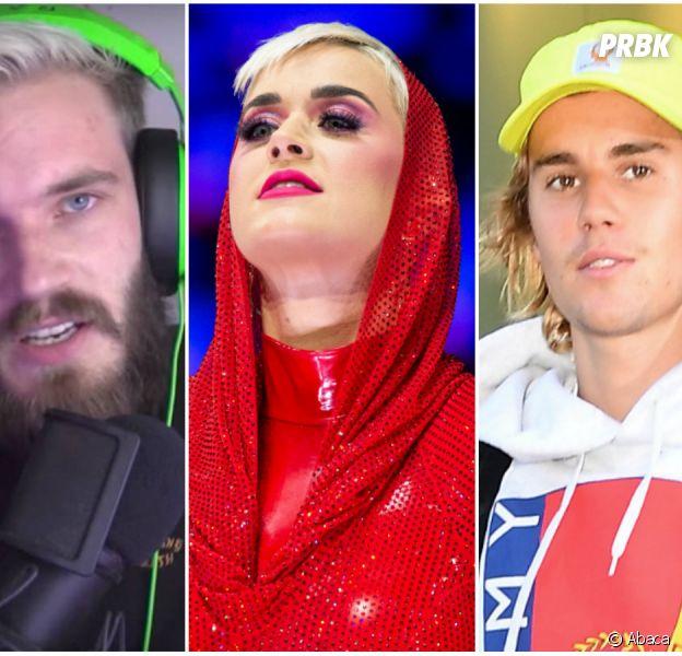 PewDiePie, Justin Bieber, Katy Perry : Top 10 des chaînes Youtube les plus suivies