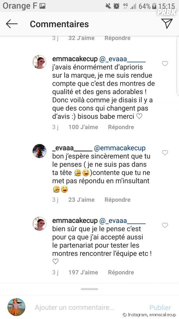 Emma Cakecup accusée d'être hypocrite après un partenariat, elle s'explique