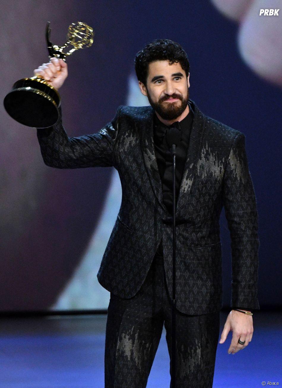 Darren Criss gagnant aux Emmy Awards 2018 le 17 septembre à Los Angeles