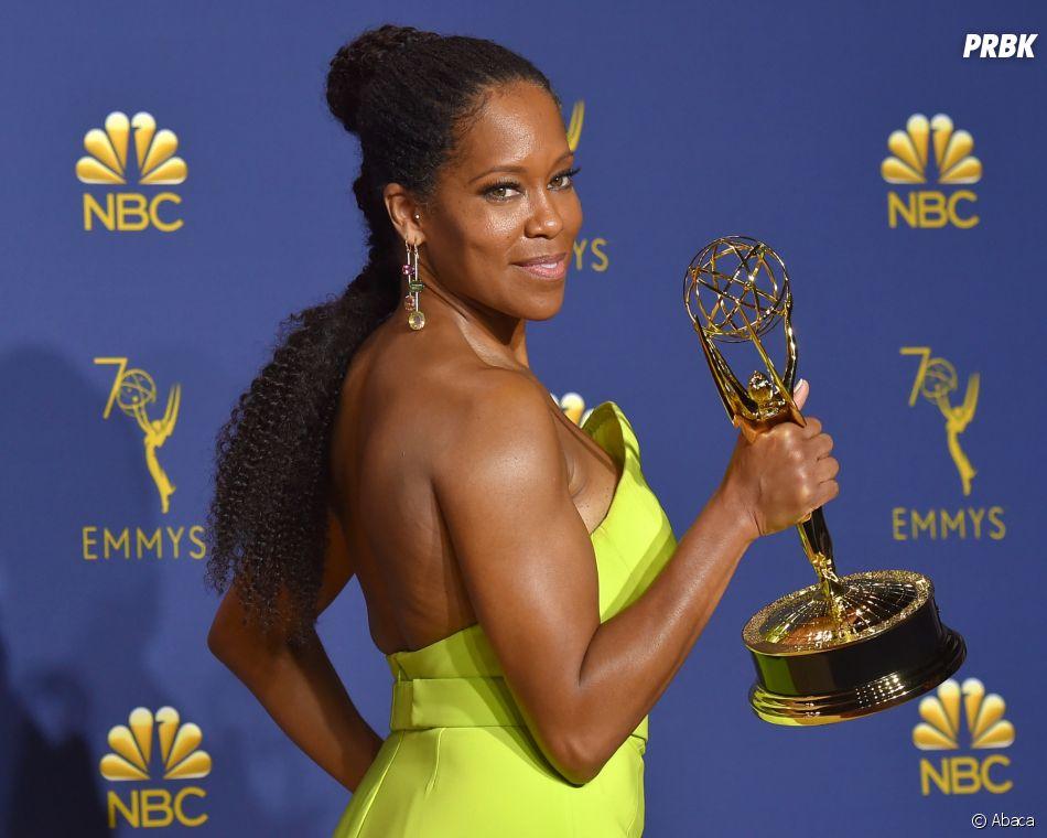 Regina King gagnante aux Emmy Awards 2018 le 17 septembre à Los Angeles