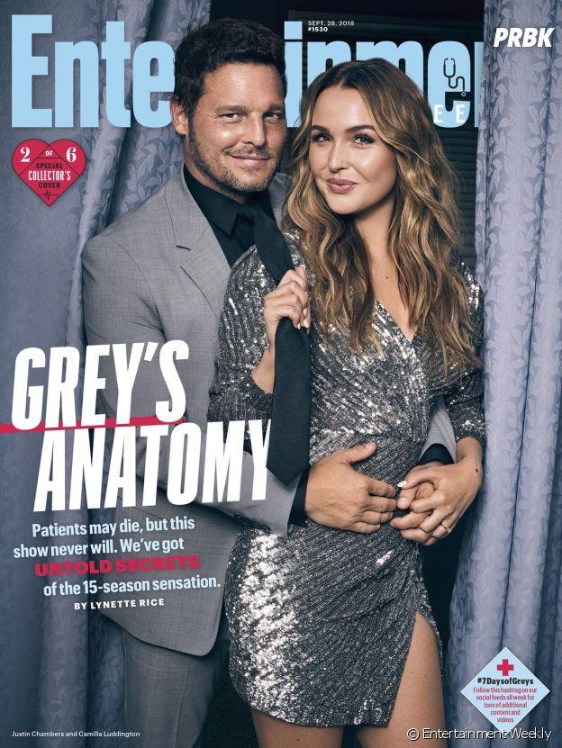 Grey's Anatomy saison 15 : la couverture spéciale avec Justin Chambers (Alex) et Camila Luddington (Jo)
