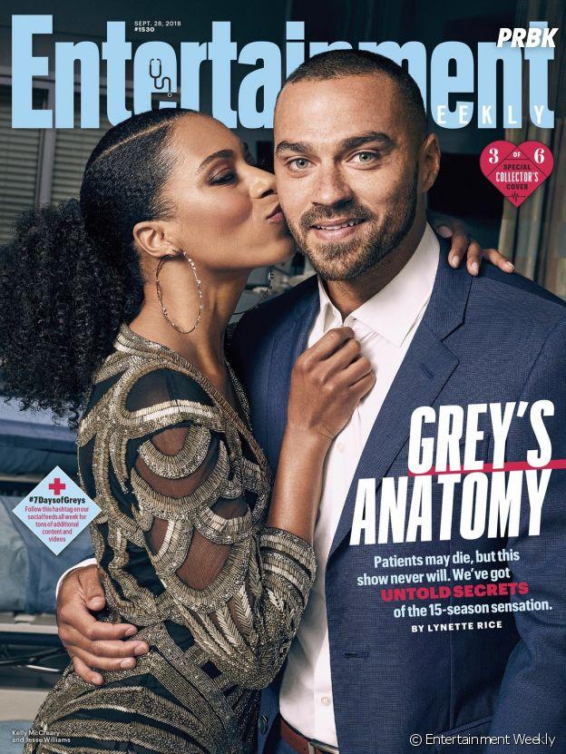 Grey's Anatomy saison 15 : la couverture spéciale avec Kelly McCreary (Maggie) et Jesse Williams (Jackson)