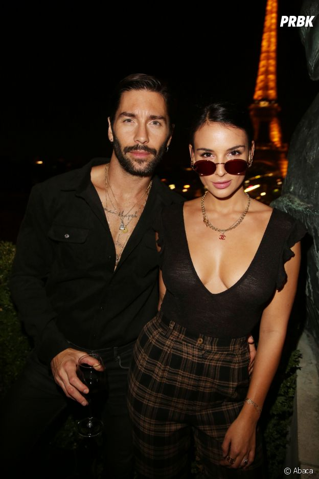 Stéphane Rodrigues (Secret Story 8) et sa femme Jade Leboeuf à la soirée Privé Revaux x Krys au Café de l'Homme à Paris.