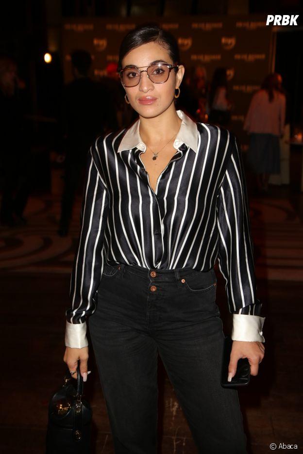 Camélia Jordana à la soirée Privé Revaux x Krys au Café de l'Homme à Paris.