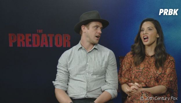 Olivia Munn et Boyd Holdbrook nous font le cri du Predator.