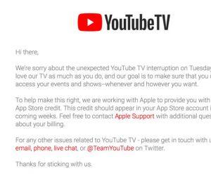 Panne de Youtube : 10 $ offerts aux abonnés Premium en guise d'excuses