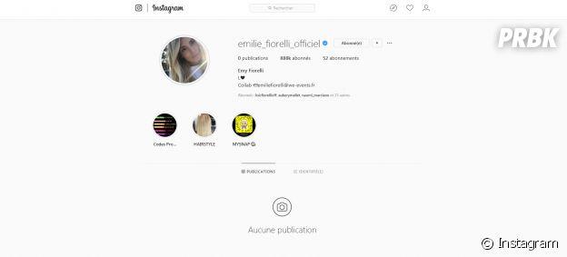 Emilie Fiorelli supprime toutes ses photos Instagram