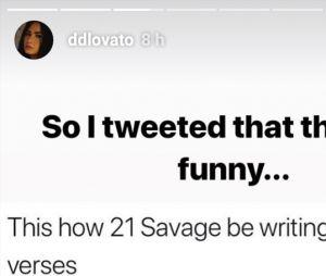Demi Lovato s'excuse après s'être moquée de 21 Savage