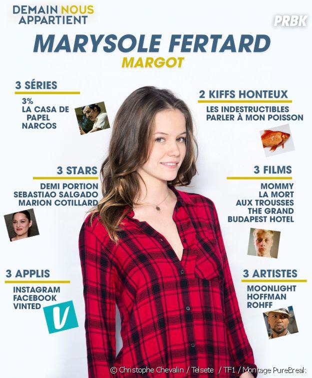 Demain nous appartient : le portrait de Marysole Fertard (Margot)