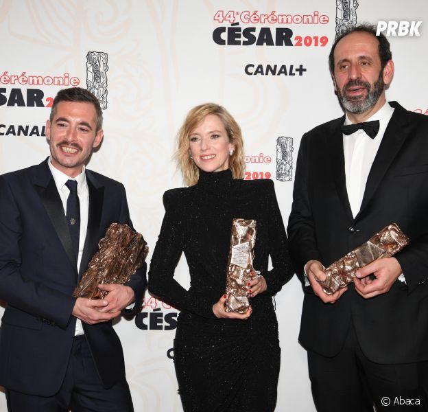 L'équipe de Jusqu'à la garde gagnante aux César 2019 le 22 février à Paris
