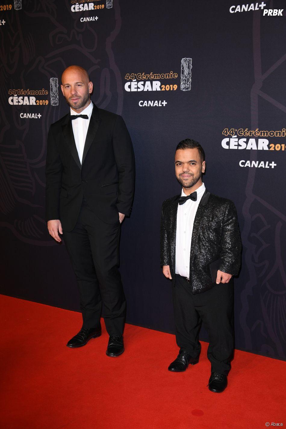 Franck Gastambide et Anouar Toubali sur le tapis rouge des César 2019 le 22 février à Paris