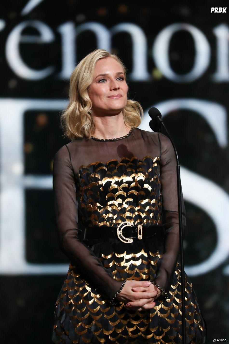 Diane Kruger sur la scène des César 2019 le 22 février à Paris