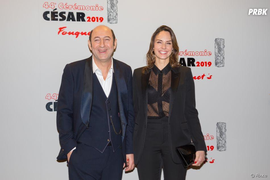 Kad Merad et Julie Vignali sur le tapis rouge des César 2019 le 22 février à Paris