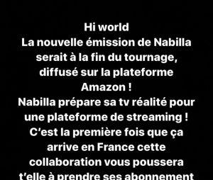 Nabilla Benattia préparerait une nouvelle émission de télé-réalité selon Aqababe