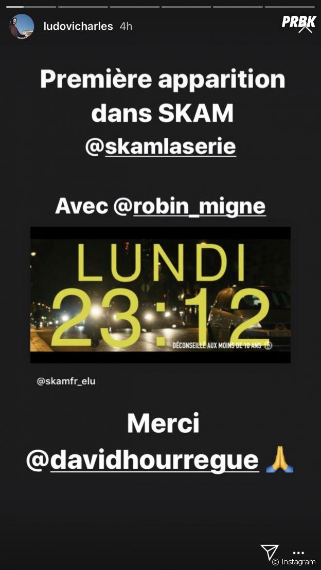 Skam saison 5 : Ludovic Charles (Demain nous appartient) dans la série France tv.slash