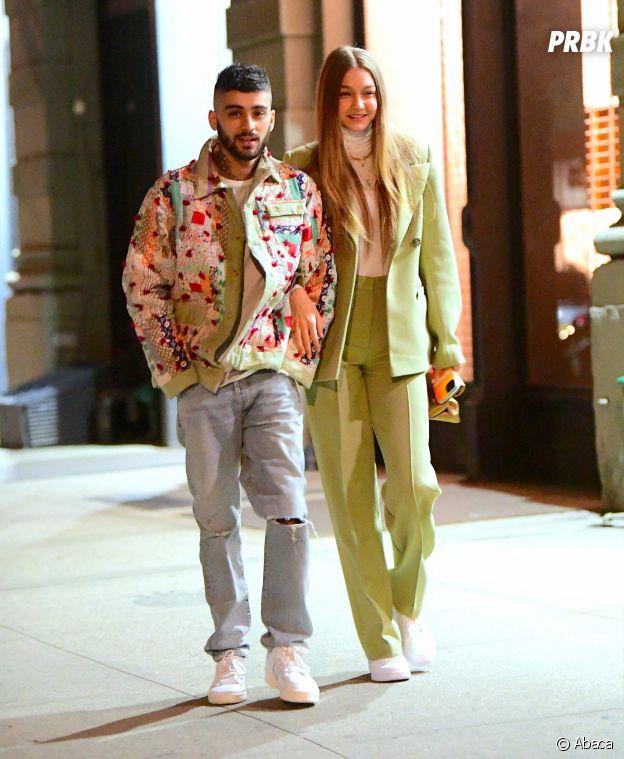 Zayn Malik et Gigi Hadid dans les rues de New York ce dimanche 12 janvier 2020