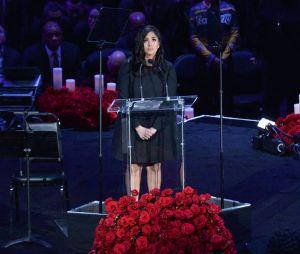 L'hommage émouvant de Vanessa Bryant à Kobe Bryant et sa fille Gianna le 24 février 2020 au Staples Center de Los Angeles